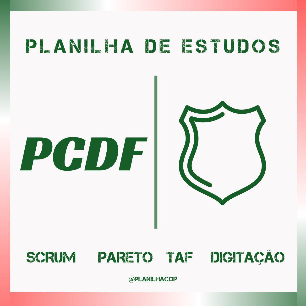 Planilha de Estudos PCDF
